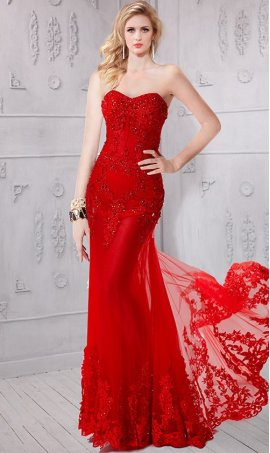 Chic absolutely beautiful corset style sheer illusion beaded lace applique Prom Formal Evening Dress Gown