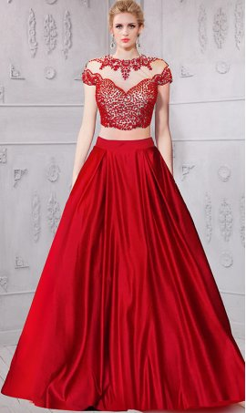 Chic absolutely stunning pearl encrusted top high neck cap sleeves santin ball Dress Gown