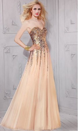 Chic aluring sparkling floor length sequin tulle prom formal evening Dress Gown