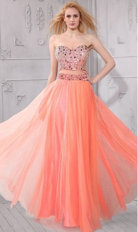 Gorgeous Embellished Bodice Floor length two piece prom formal evening Dress Gown