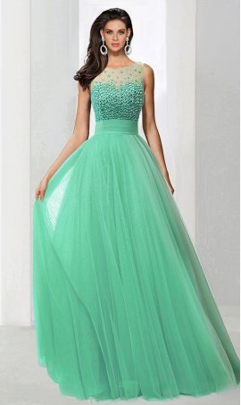 Chic outstanding fully beaded high neck a line tulle ball Dress Gown Prom Formal Evening Dress Gown