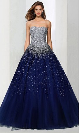 Chic breathtaking allover sequined fairytale tull ball Dress Gown Prom Formal Evening Dress Gown