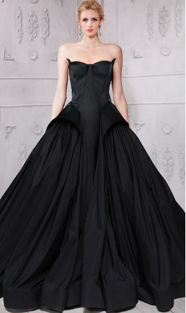 Chic breathtaking taffeta ball Dress Gown