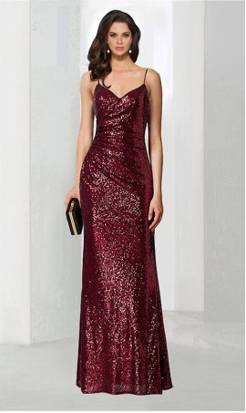 Charming ruched full length sequin bridesmaid prom formal evening Dress Gown