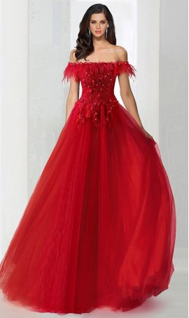 Chic feather beaded lace applique off the shoulder a line tulle ball Dress Gown Prom Formal Evening Dress Gown
