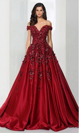 stylish floral sequins embellished satin ball Dress Gown Prom Formal Evening Dress Gown