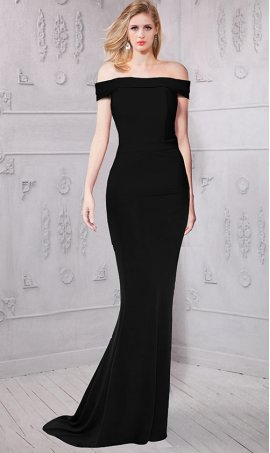 Fabulous off the shoulder jersey Dress Gown