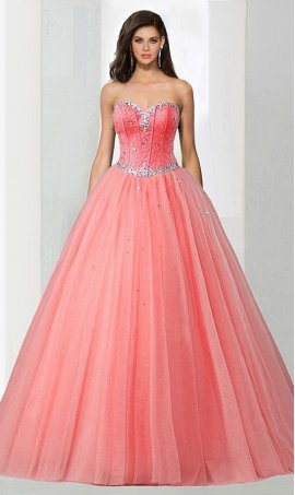 Chic beaded strapless sweetheart ball Dress Gown prom quinceanera Dress Gown