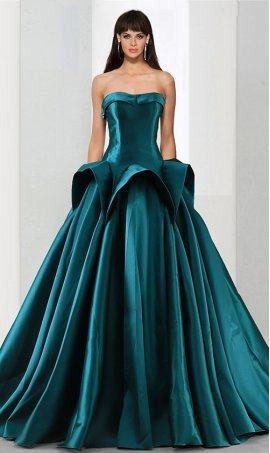 Flawless a-line floor-length satin ball Dress Gown prom formal evening Dress Gown