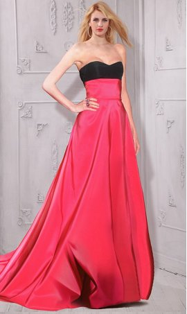 Flawless color-block satin Dress Gown