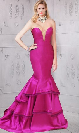 stylish mermaid Dress Gown bustier-style satin mermaid dreses