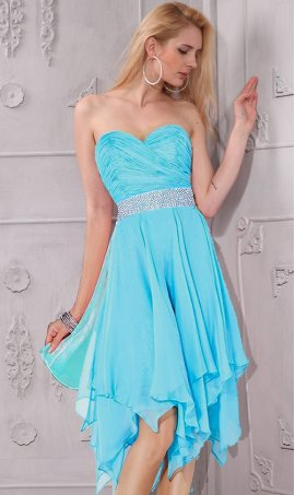 Flawless beaded strapless sweetheart knee length ruched short Dress Gown