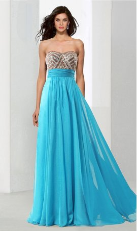 Chic flowy beaded sweetheart floor length A-line chiffon prom formal evening pageant Dress Gown