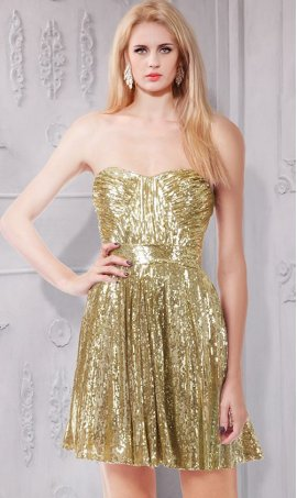 Flawless Strapless sweetheart Ruched waist sequins Dress Gown