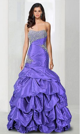 Chic rocking beaded strapless sweetheart drop waist taffeta mermaid prom formal evening pageant Dress Gown