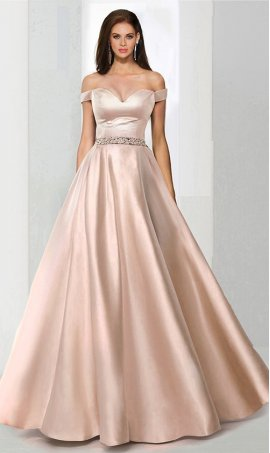 elegant beaded long off the shoulder A-Line satin ball Dress Gown Prom Formal Evening Dress Gown