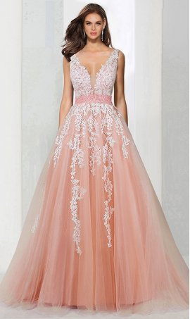 Chic enchanted v neck beaded lace applique a line fairytale quinceanera ball Dress Gown prom formal evening Dress Gown