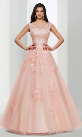 Chic stunning beaded lace applique high neck tulle ball Dress Gown formal prom evening Dress Gown
