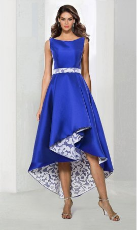 Flawless high neck high low hi lo satin Dress Gown