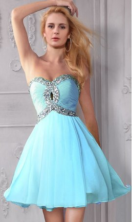 Chic Embellished Keyhole Front Strapless Sweetheart Short Dress Gown for Proms