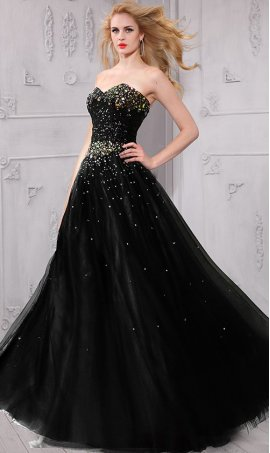 Charming colorful jewels encrusted Sequined ball Dress Gown Prom Formal Evening Dress Gown