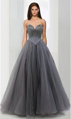 Chic stellar corset style sweetheart tulle ball Dress Gown prom formal evening Dress Gown