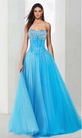 Chic darling beaded strapless sweetheart a line tulle ball Dress Gown prom formal evening Dress Gown